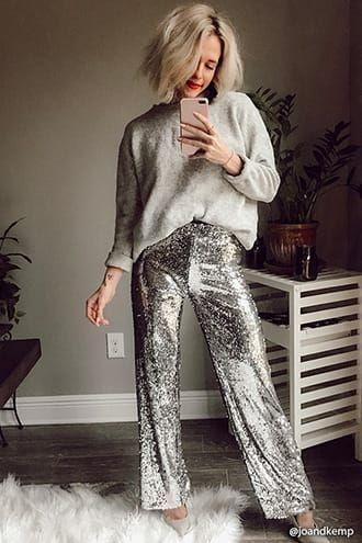 Look de fêtes - pantalon sequins