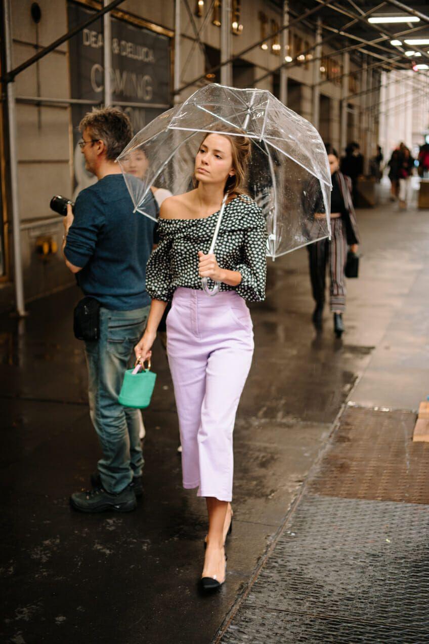 Top à poids et pantalon lilas