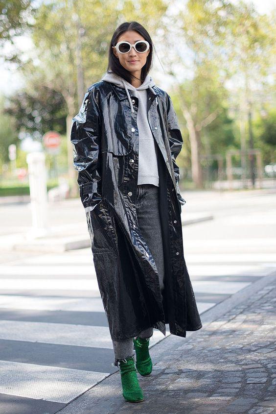 Le manteau en vinyle
