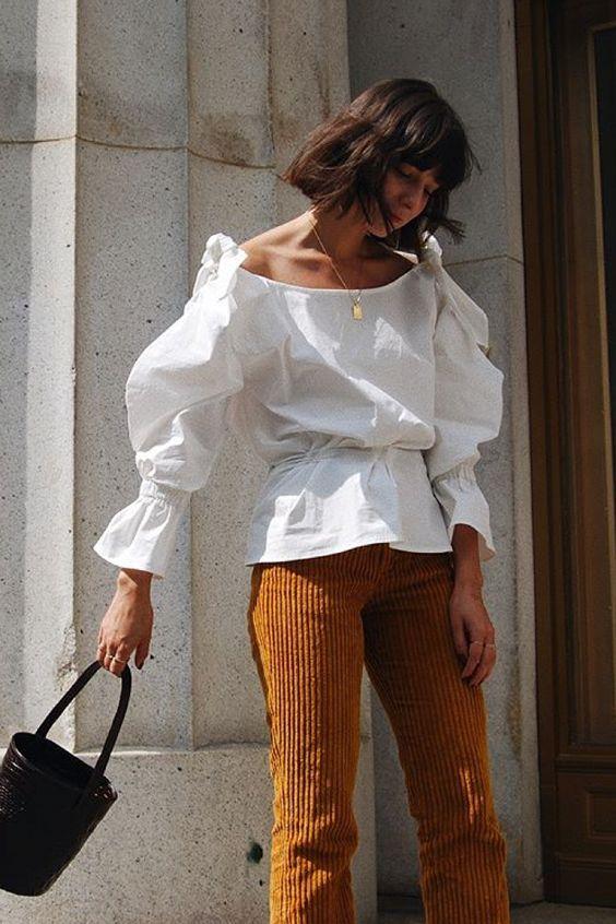 Le pantalon en velours côtelé
